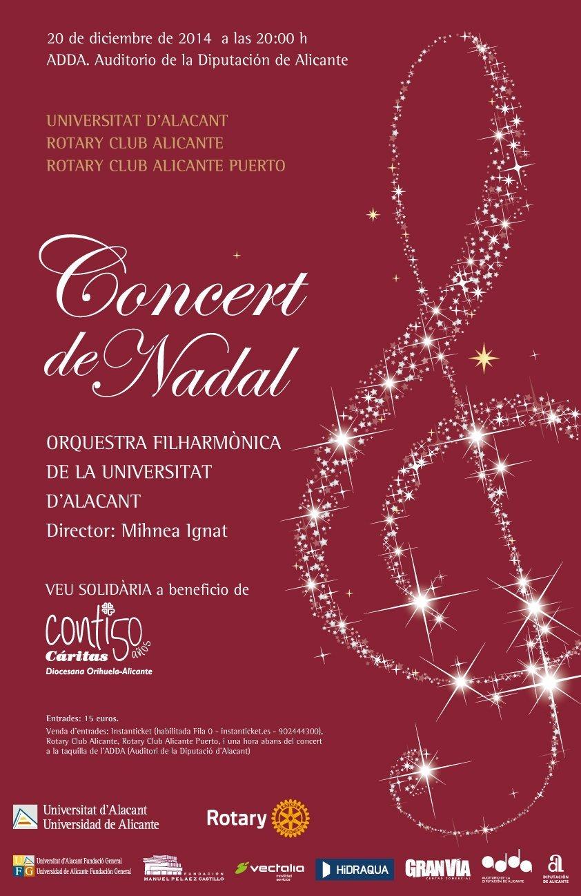 Cartel Concierto de Navidad 2014 Rotary Club Alicante Puerto