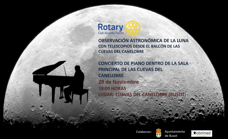 Concierto Cuevas de Canalobre Rotary Club Alicante Puerto