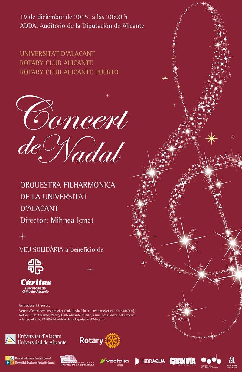 Concierto de Navidad 2015 Universidad de Alicante y Rotary Alicante Puerto