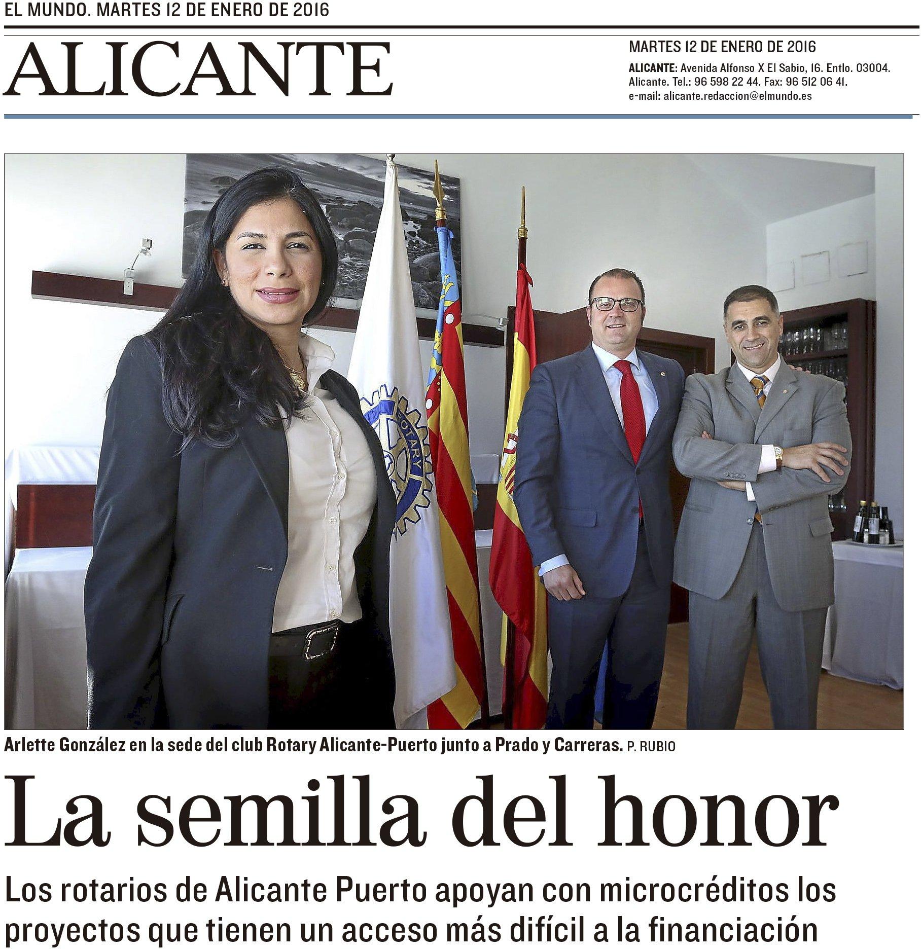 Microcreditos Rotary Alicante Puerto por El Mundo