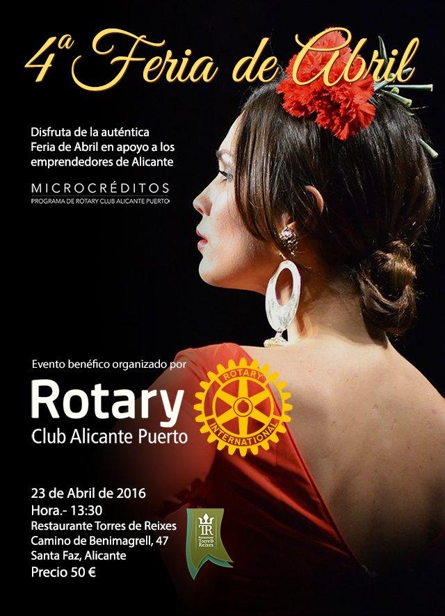 Feria de Abril 2016 de Rotary Club Alicante Puerto