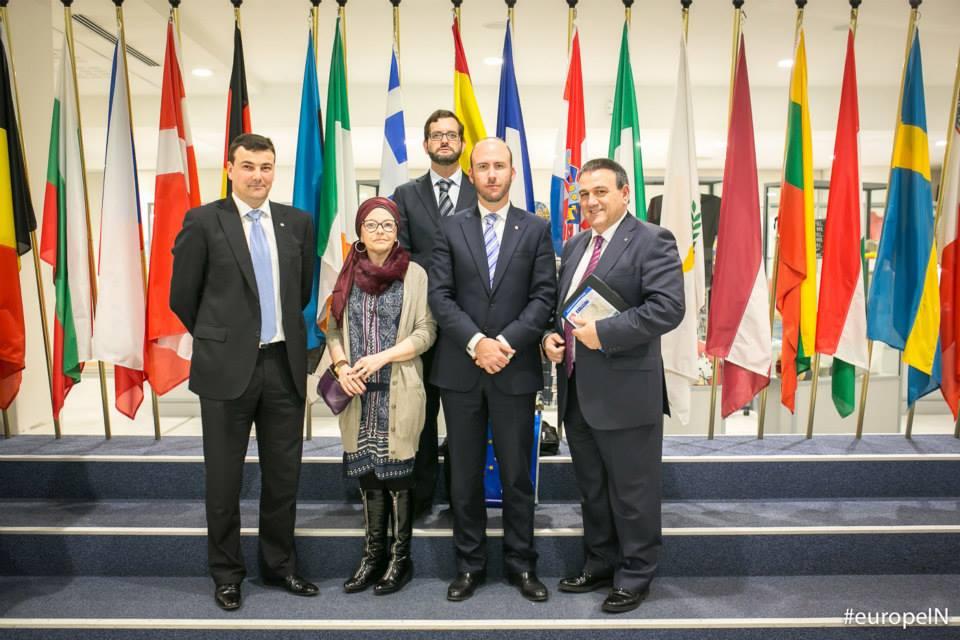 Rotarios españoles en el Parlamento Europeo de Bruselas (Rotary)