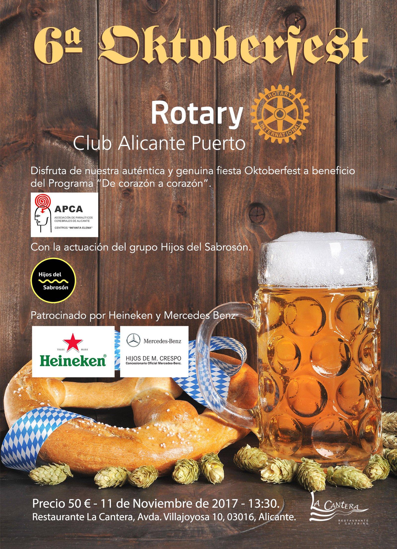 6ª Oktoberfest Rotary Club Alicante Puerto