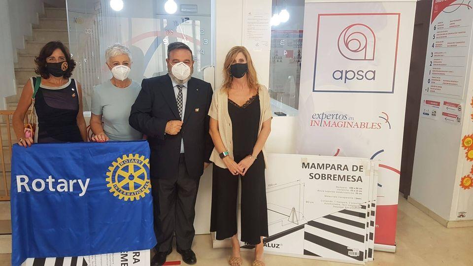 Donación de mamparas anti covid-19 a ALINUR, APSA, y ASAFAN